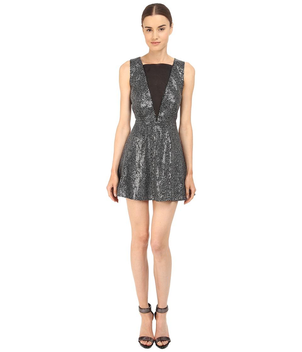 McQ - Deep V-Neck Dress (Silver) Women's Dress