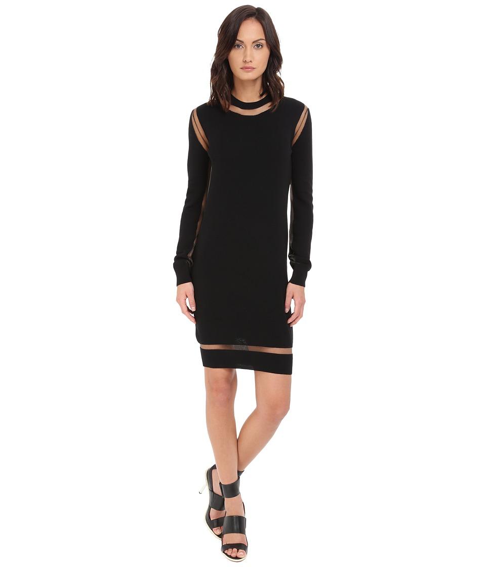 McQ - Multi Gauge Dress (Darkest Black) Women's Dress