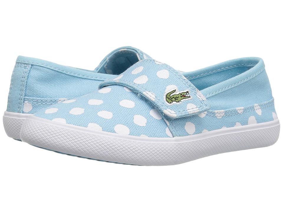 Lacoste Kids Marice 216 2 SP16 (Toddler/Little Kid) (Light Blue) Girl