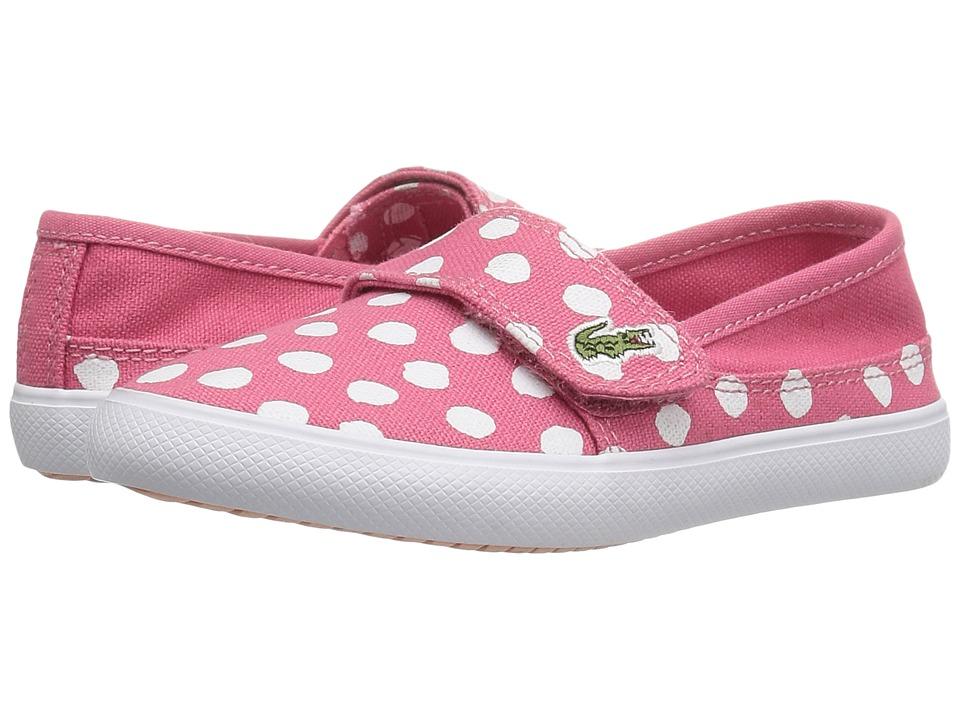 Lacoste Kids Marice 216 2 SP16 (Toddler/Little Kid) (Dark Pink) Girl