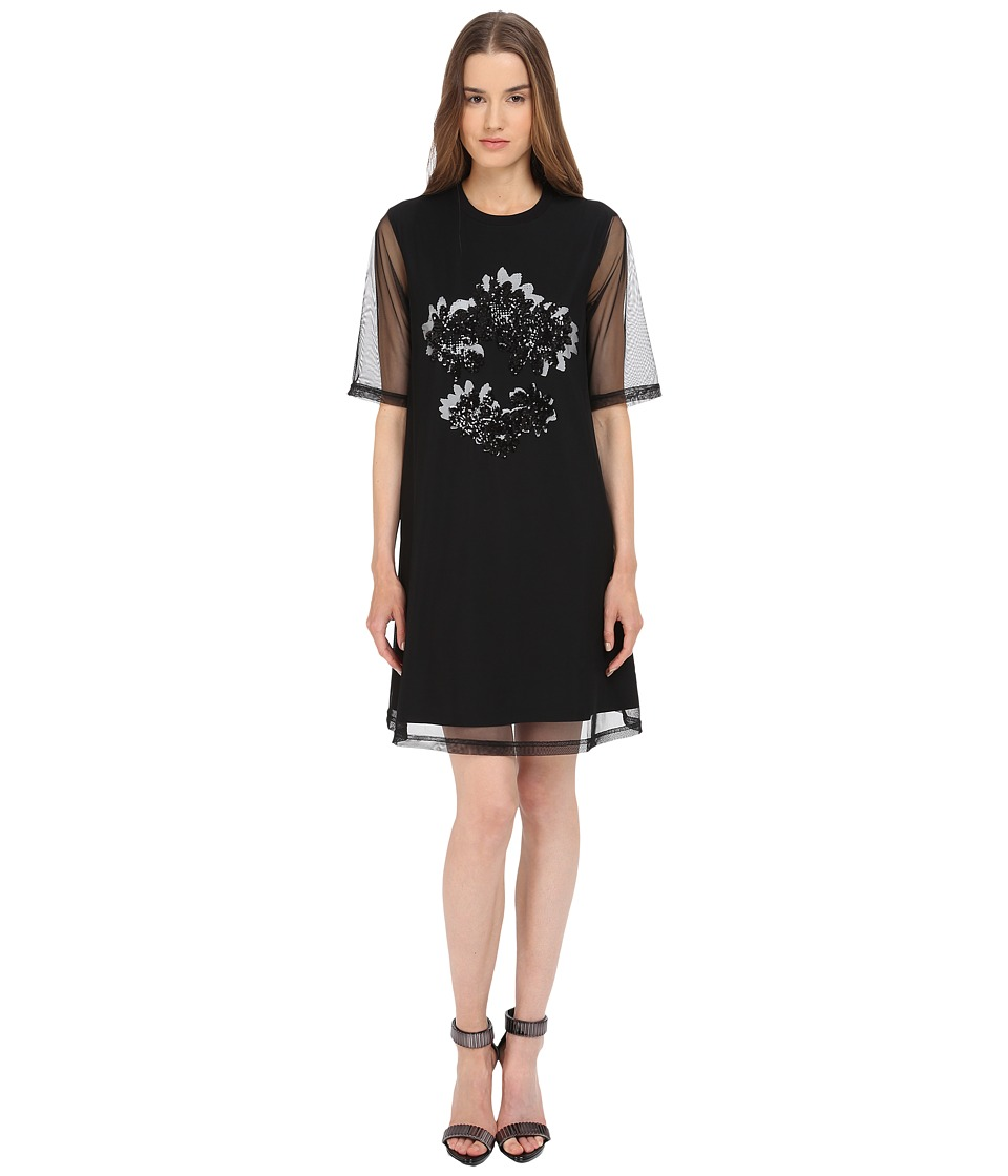 McQ - Volume Overlay Dress (Darkest Black) Women's Dress