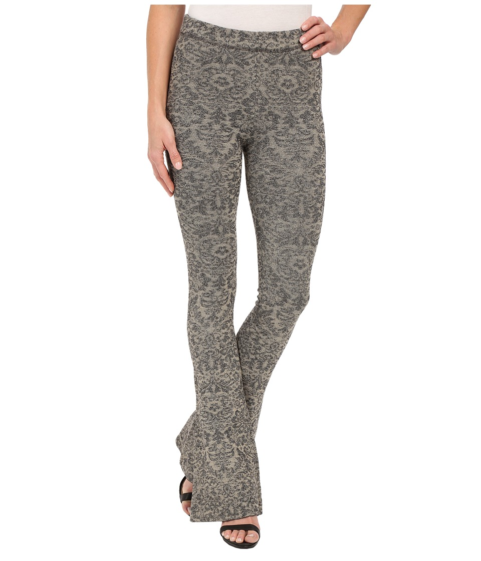 Free People Lurex Sweater Flare Pants (Tea/Black Combo) Women