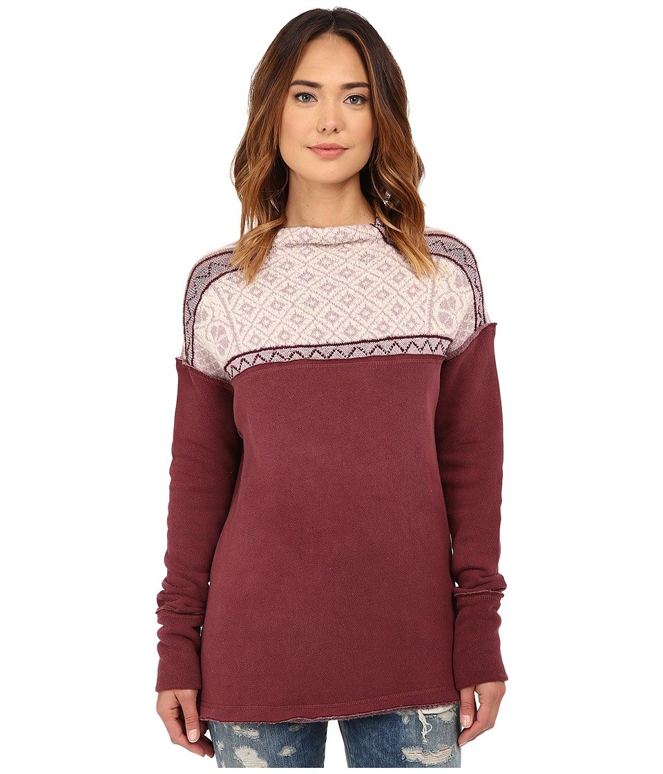 Free People - Snowbunny Pullover Top (Berry Combo) Women's Sweater