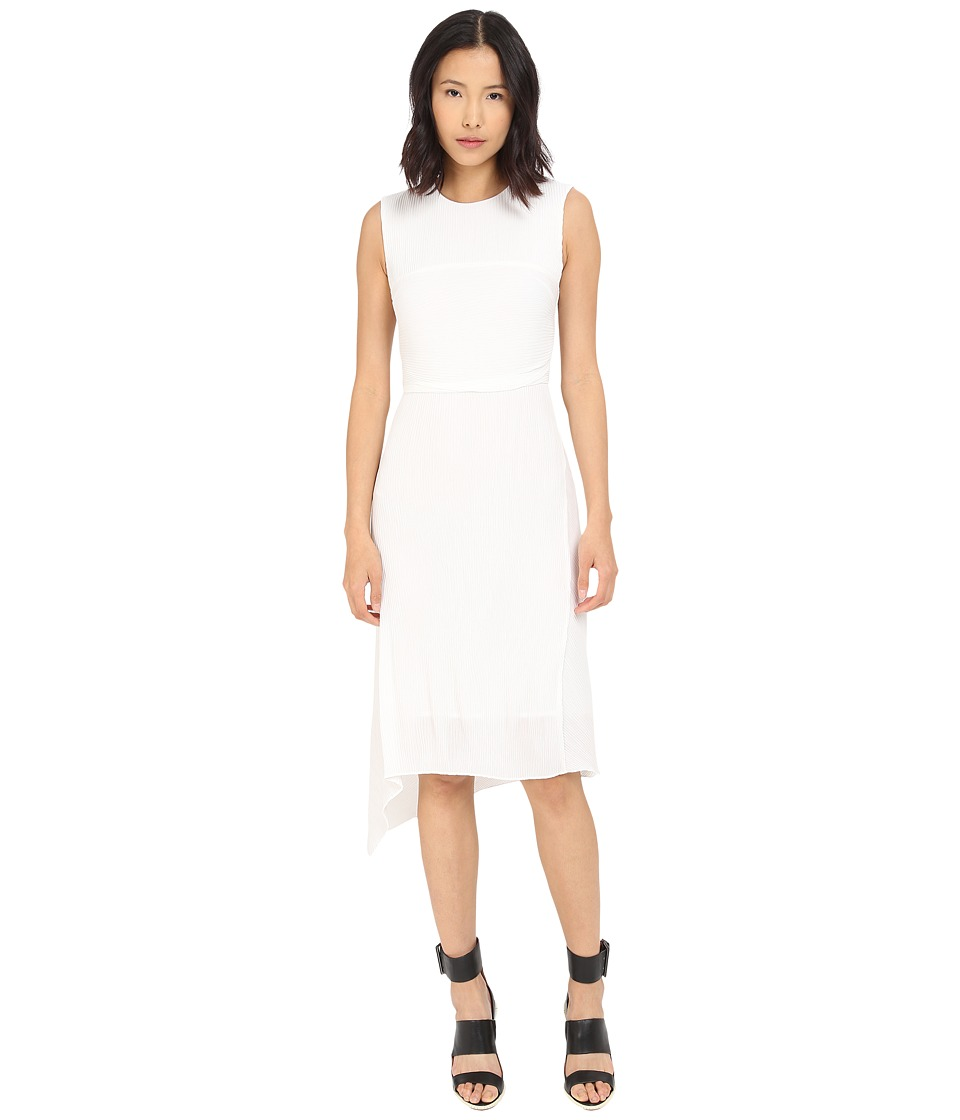 McQ - Straight Pleat Dress (Ivory) Women's Dress