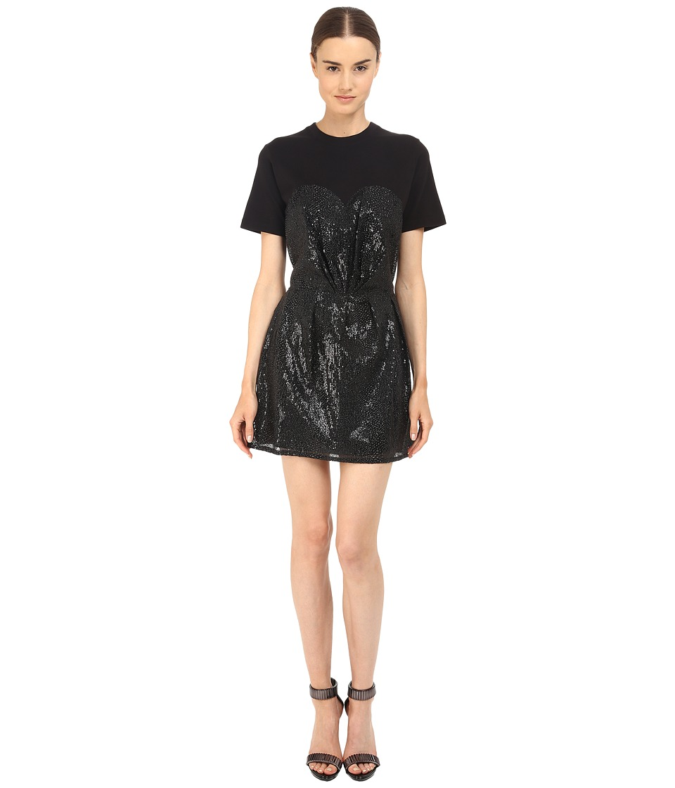 McQ - Bustier T-Shirt Dress (Black/Black) Women's Dress