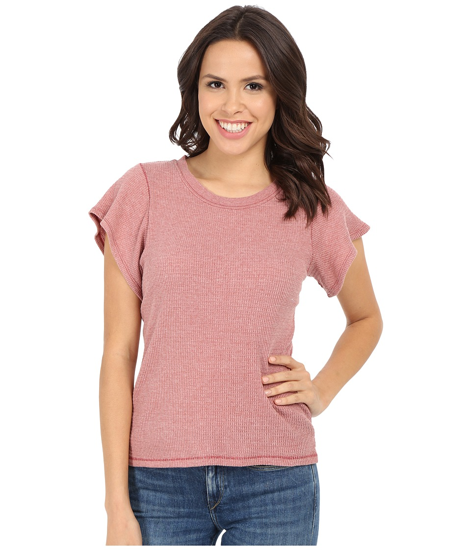 Free People - Basic Thermal Flutter Tee (Red Clay) Women's T Shirt