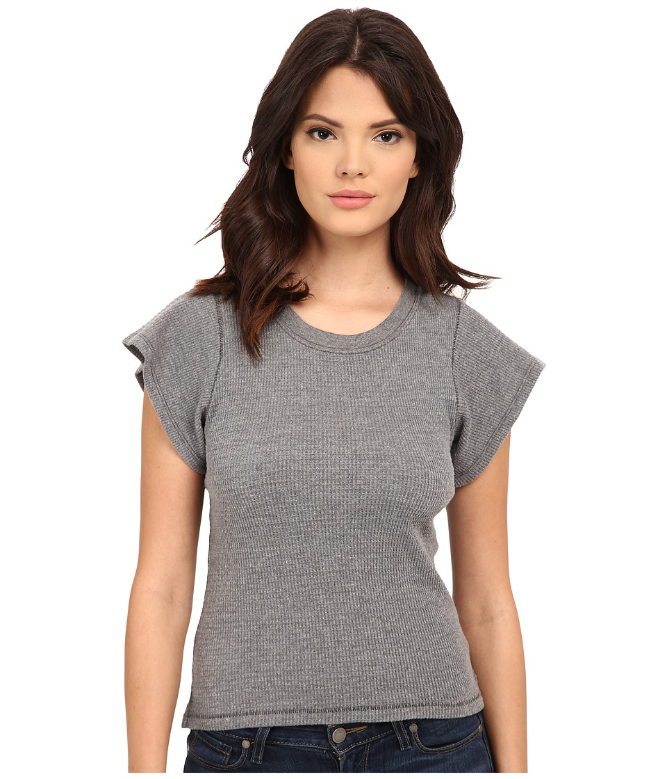 Free People Basic Thermal Flutter Tee (Charcoal) Women