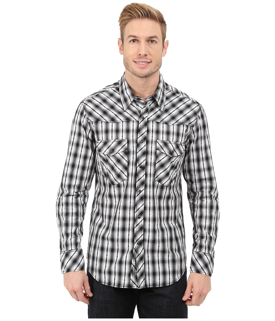 Rock and Roll Cowboy - Long Sleeve Snap B2S5416 (Black) Men's Long Sleeve Button Up