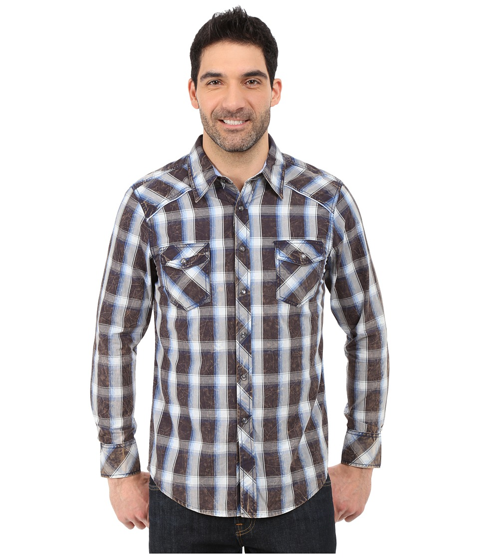 Rock and Roll Cowboy - Long Sleeve Snap B2S5413 (Blue) Men's Long Sleeve Button Up