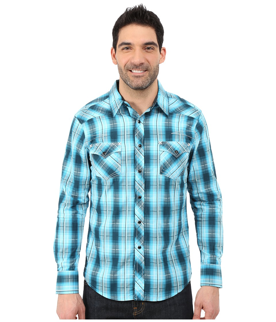 Rock and Roll Cowboy - Long Sleeve Snap B2S5429 (Turquoise) Men's Long Sleeve Button Up
