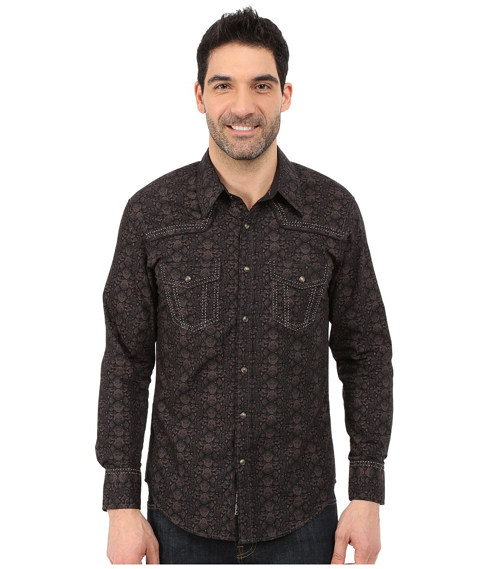Rock and Roll Cowboy - Long Sleeve Snap B2S5431 (Brown) Men's Long Sleeve Button Up