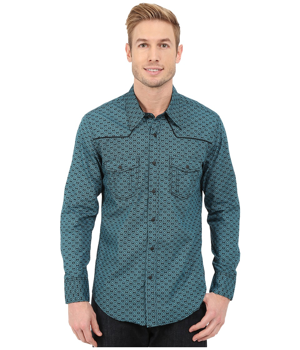 Rock and Roll Cowboy - Long Sleeve Snap B2S5418 (Turquoise) Men's Long Sleeve Button Up