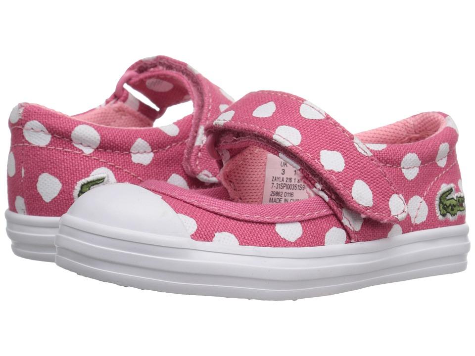 Lacoste Kids - Zayla 216 1 SP16 (Toddler/Little Kid) (Dark Pink) Girl's Shoes