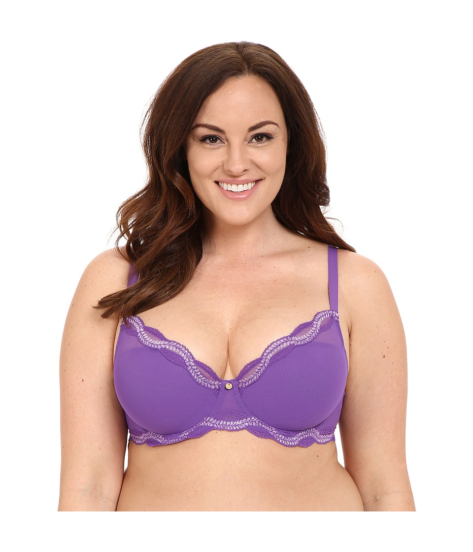 Natori - Pure Allure Full Figure Contour Underwire Bra 736099 (Purple/Soft Lilac) Women's Bra