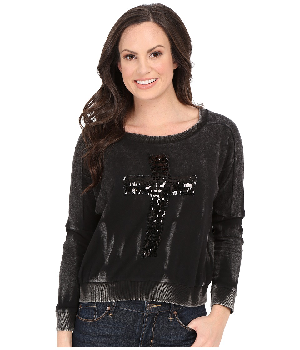 Rock and Roll Cowgirl - Long Sleeve Sweatshirt 48-5088 (Black) Women's Sweatshirt