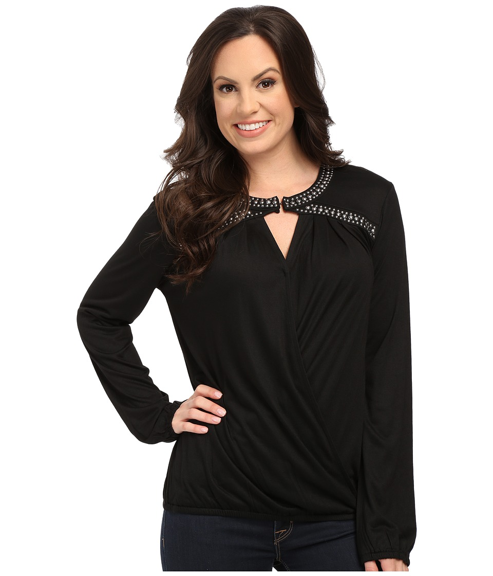 Rock and Roll Cowgirl - Long Sleeve Blouse 48-5094 (Black) Women's Blouse