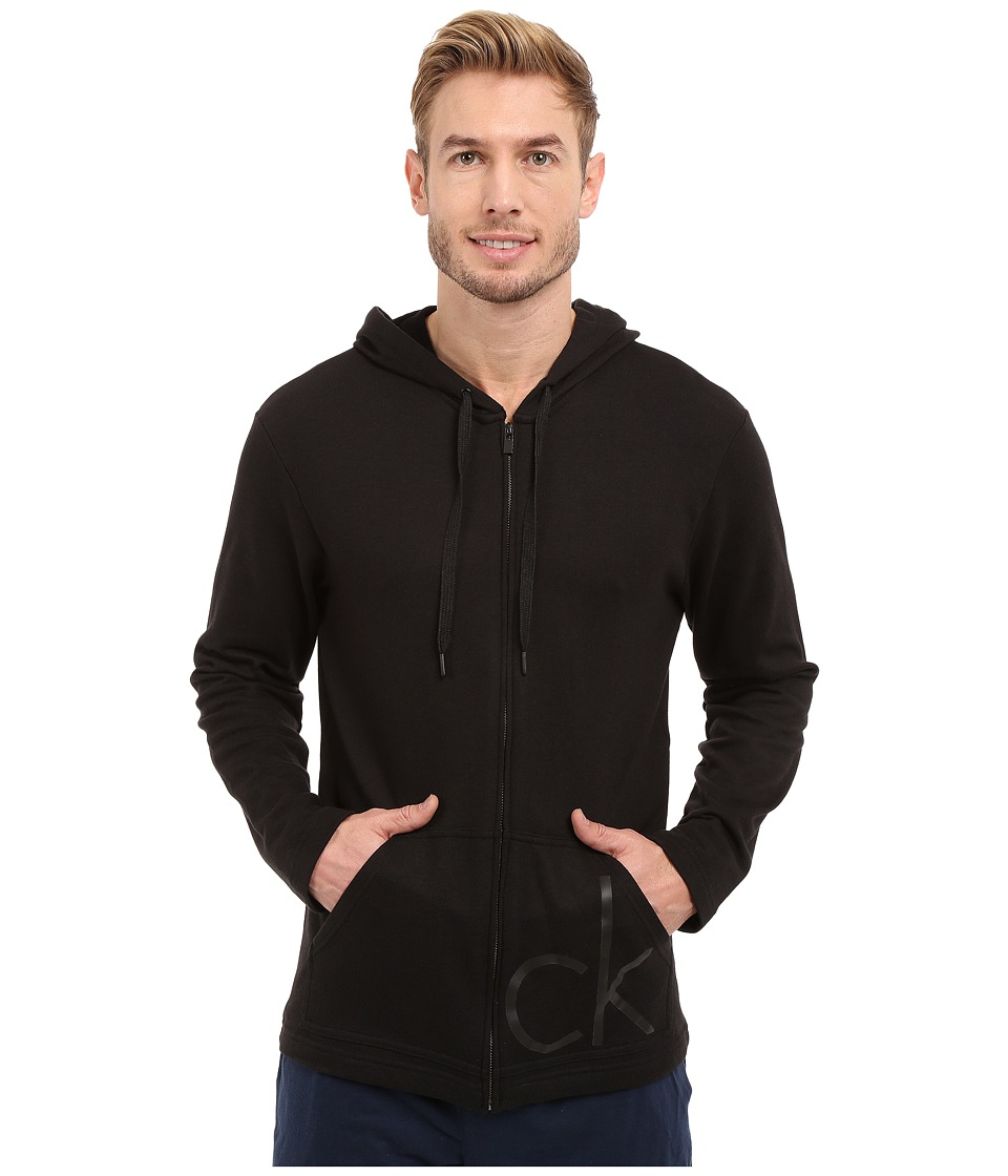 Calvin Klein Underwear - CK One French Terry Full Zip Hoodie (Utility Black) Men's Sweatshirt