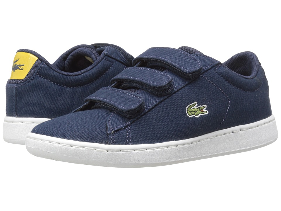 Lacoste Kids - Carnaby Evo 216 1 SP16 (Little Kid) (Navy) Kid's Shoes