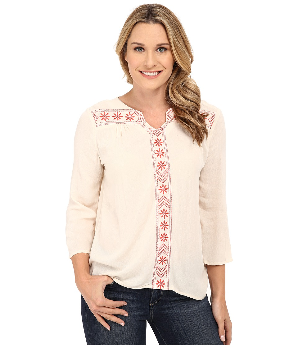 Rock and Roll Cowgirl - 3/4 Sleeve Top B4-5375 (Natural) Women's T Shirt