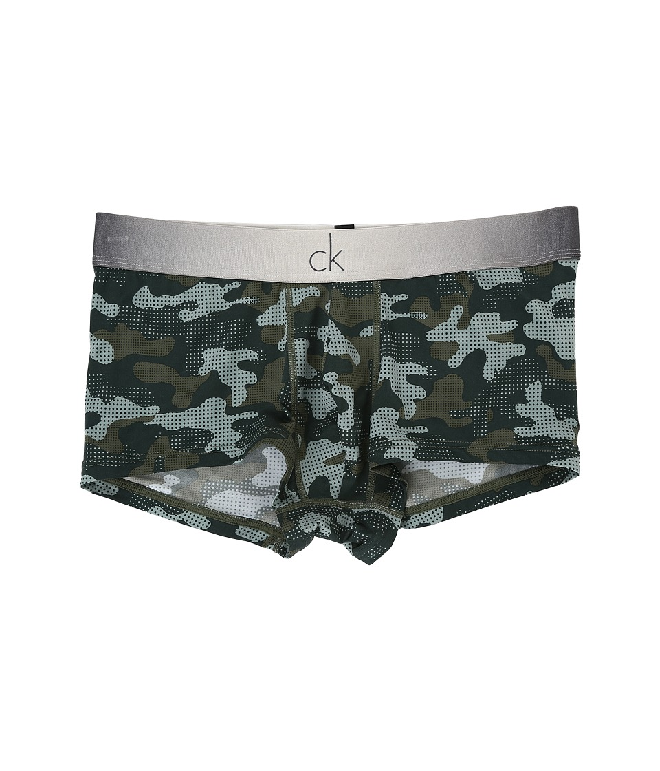 Calvin Klein Underwear - CK Fashion Low Rise Trunk (CK Camo Print/Hunter Green) Men's Underwear