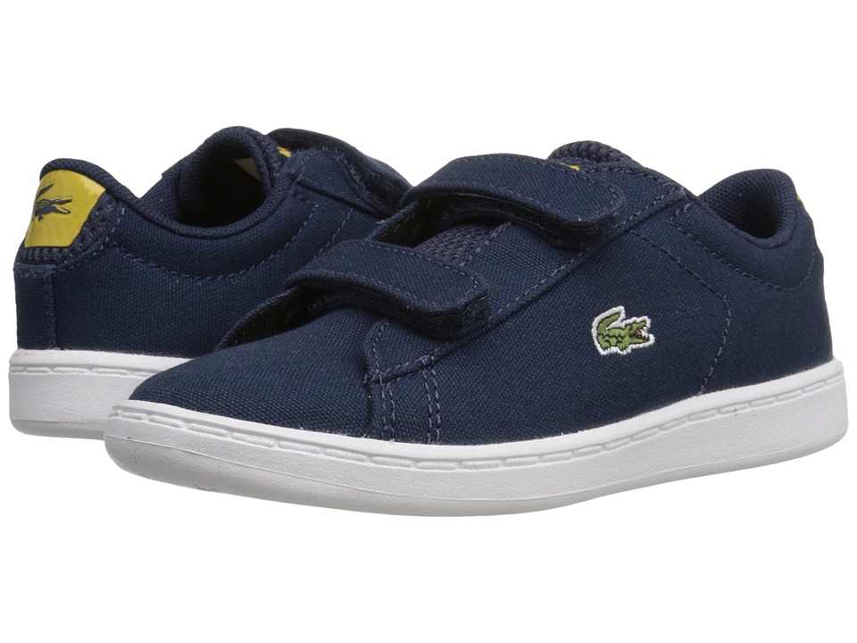 Lacoste Kids - Carnaby Evo 216 1 SP16 (Toddler/Little Kid) (Navy) Kid's Shoes