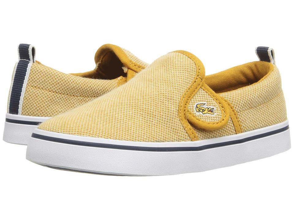Lacoste Kids - Gazon 216 1 SP16 (Toddler/Little Kid) (Yellow) Kid's Shoes