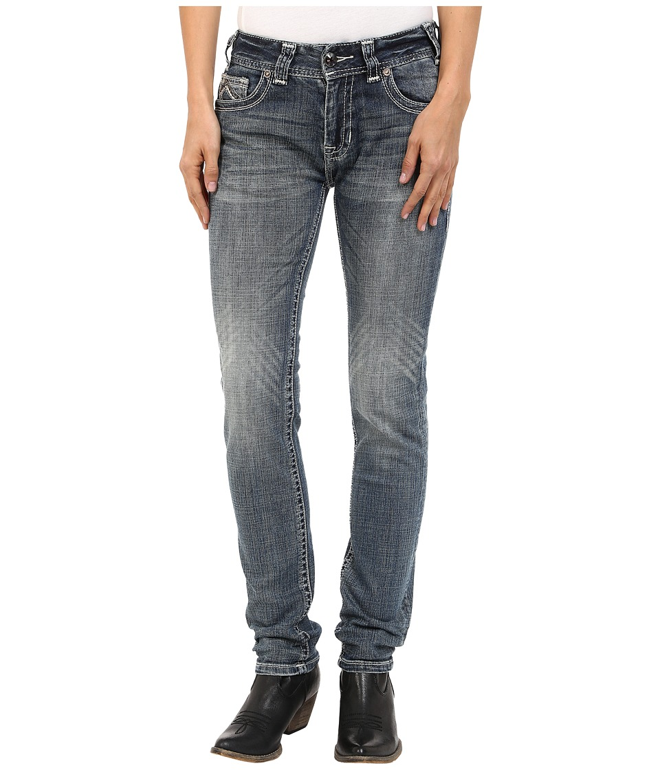 Rock and Roll Cowgirl - Mid-Rise Skinny in Medium Wash W1S5622 (Medium Wash) Women's Jeans
