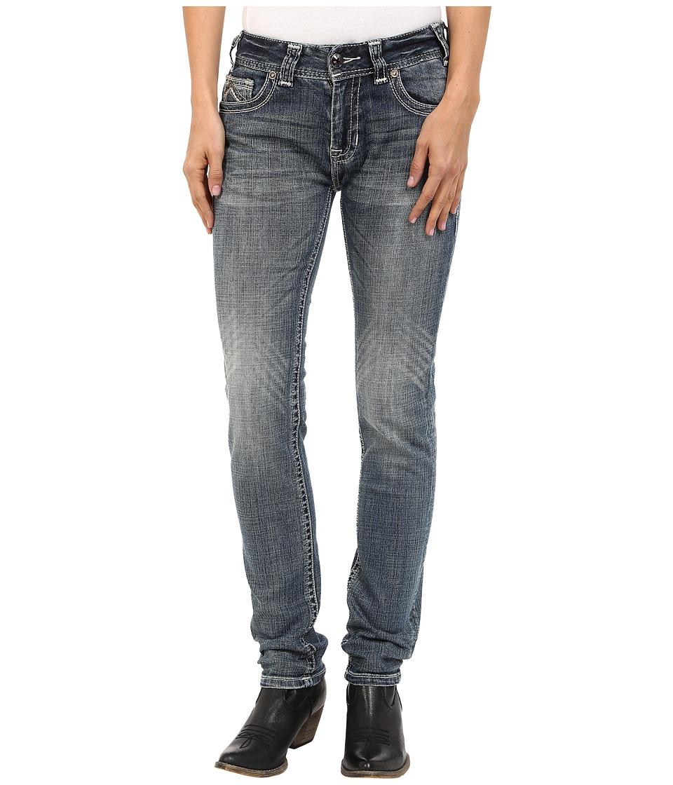 Rock and Roll Cowgirl Mid-Rise Skinny in Medium Wash W1S5622 (Medium Wash) Women