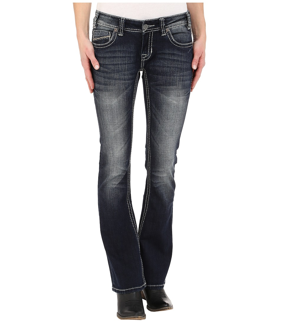 Rock and Roll Cowgirl - Rival Low Rise in Dark Vintage W6-2449 (Dark Vintage) Women's Jeans