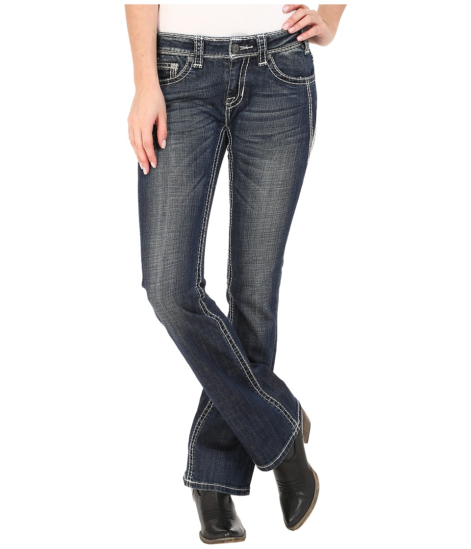 Rock and Roll Cowgirl - Rival Low Rise in Dark Vintage W6-5616 (Dark Vintage) Women's Jeans