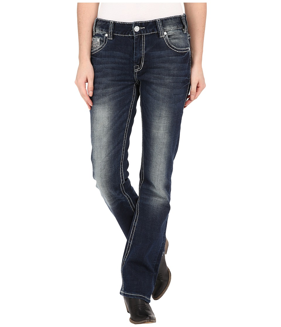 Rock and Roll Cowgirl - Boyfriend Jeans in Dark Vintage W2-5630 (Dark Vintage) Women's Jeans