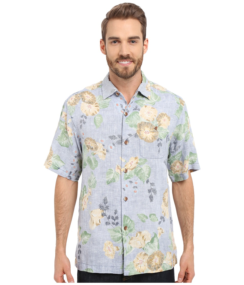 Tommy Bahama - Greenwich Garden Linen Camp Shirt (Night Shadow) Men's Short Sleeve Button Up