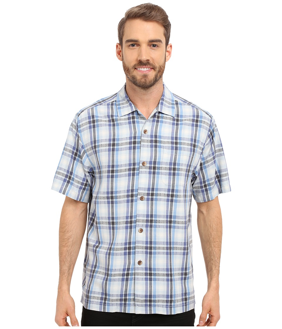 Tommy Bahama - Darling Point Plaid Camp Shirt (Night Shadow) Men's Short Sleeve Button Up