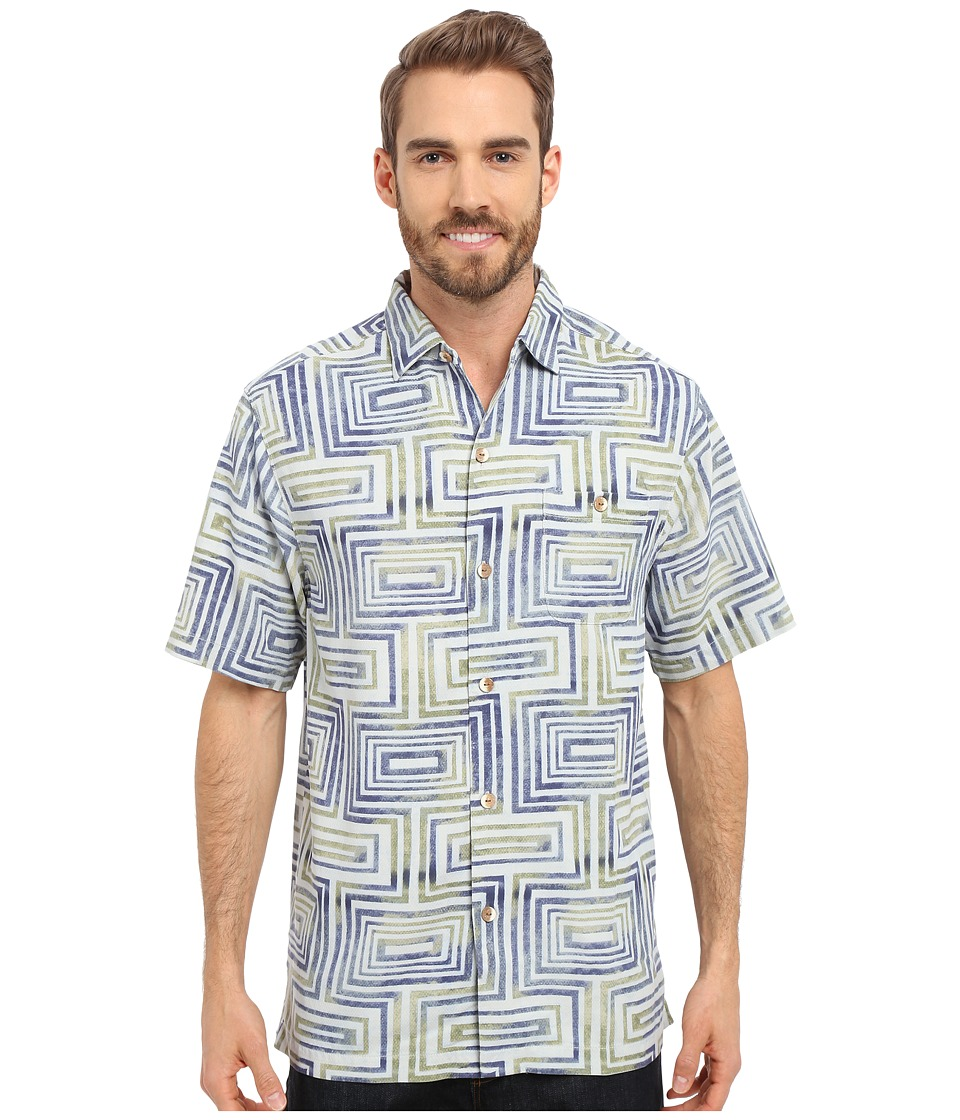 Tommy Bahama - Geo-Tastic Camp Shirt (Night Shadow) Men's Short Sleeve Button Up