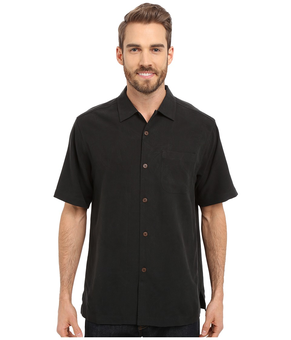 Tommy Bahama - Rio Fronds Camp Shirt (Black) Men's Short Sleeve Button Up