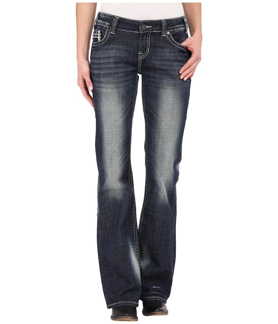 Rock and Roll Cowgirl - Riding Bootcut in Dark Vintage W7-5628 (Dark Vintage) Women's Jeans