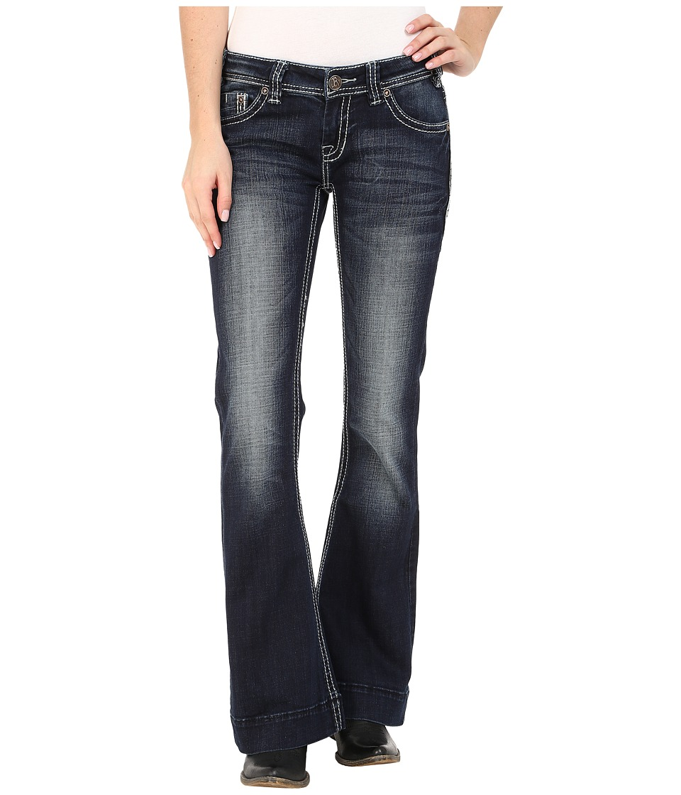 Rock and Roll Cowgirl - Trouser Low Rise in Dark Vintage W8-5640 (Dark Vintage) Women's Jeans