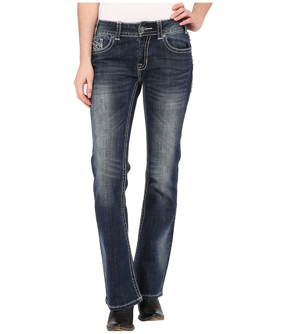Rock and Roll Cowgirl - Mid-Rise Bootcut in Dark Vintage W1-4498 (Dark Vintage) Women's Jeans