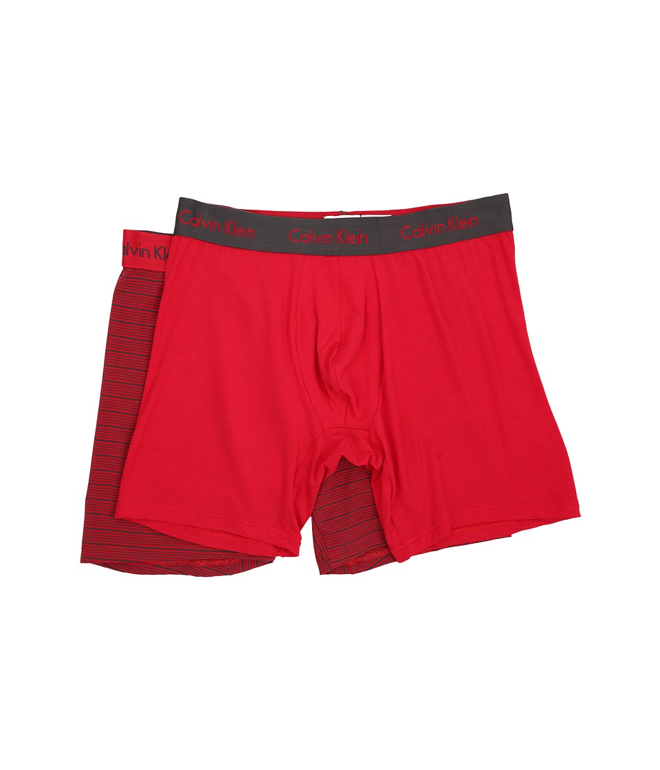 Calvin Klein Underwear - 2-Pack Boxer Brief (Market Red/Iron Stripe/Market Red Solid) Men's Underwear