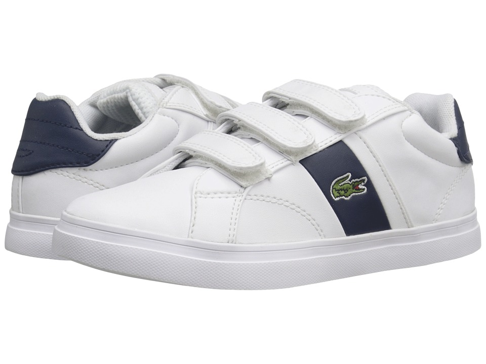 Lacoste Kids - Fairlead 216 1 SP16 (Little Kid) (White/Navy) Kid's Shoes