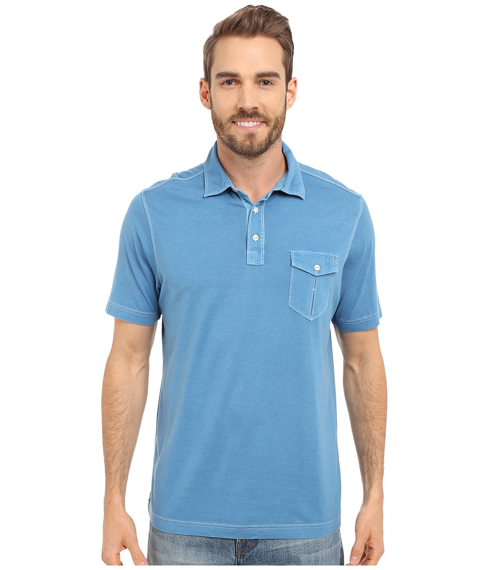 Tommy Bahama - Vacanza Polo (Beachside Blue) Men's Short Sleeve Pullover