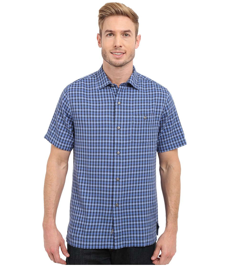 Tommy Bahama - G'Day Gingham Short Sleeve (Bright Cobalt) Men's Clothing