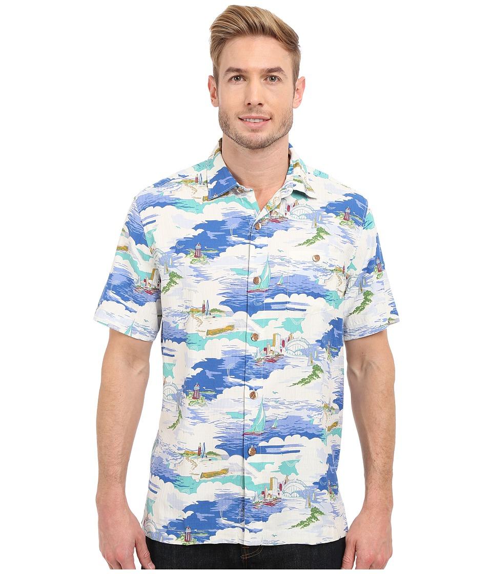 Tommy Bahama - Sydney Skyline Camp Shirt (Bright Cobalt) Men's Clothing