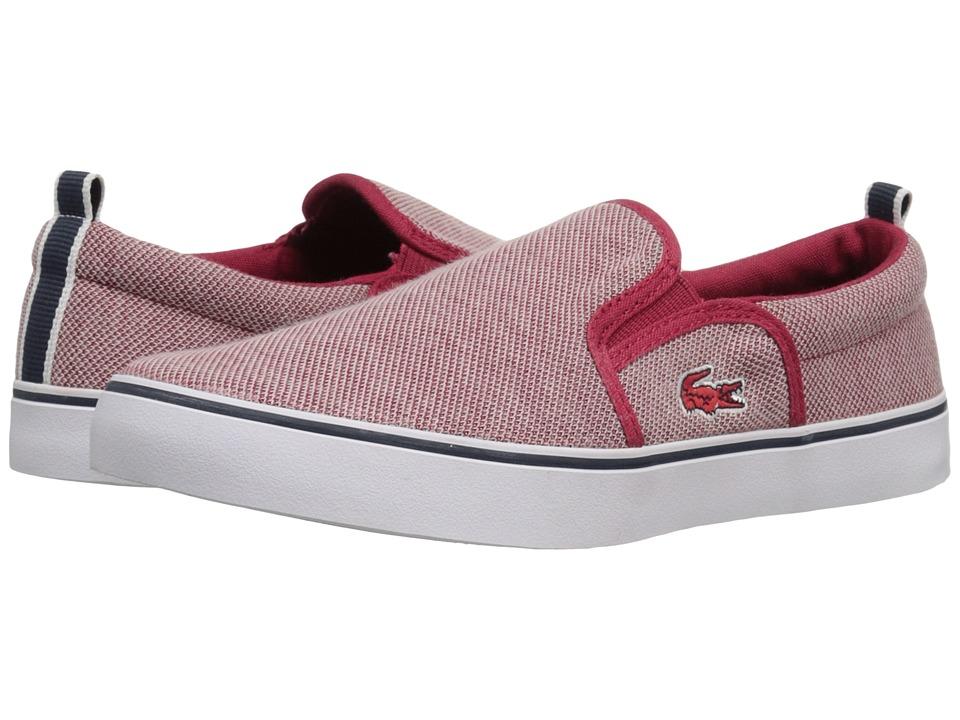 Lacoste Kids - Gazon 216 1 SP16 (Little Kid/Big Kid) (Red) Kid's Shoes