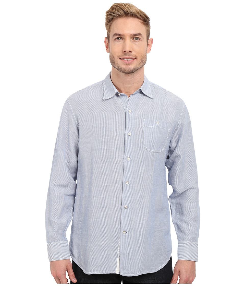 Tommy Bahama - Sand Linen Striped Shirt (Bright Cobalt) Men's Clothing