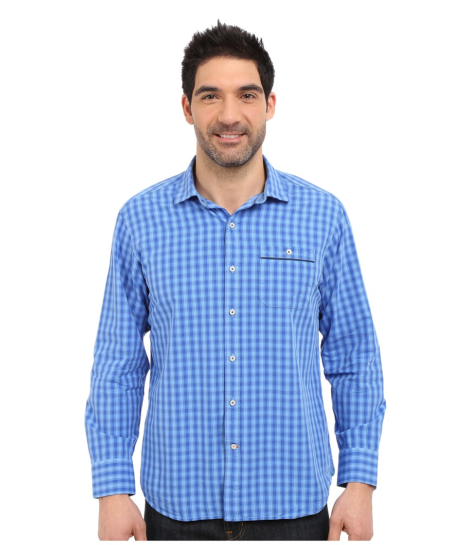 Tommy Bahama - Check Norris Long Sleeve (Bright Cobalt) Men's Long Sleeve Button Up