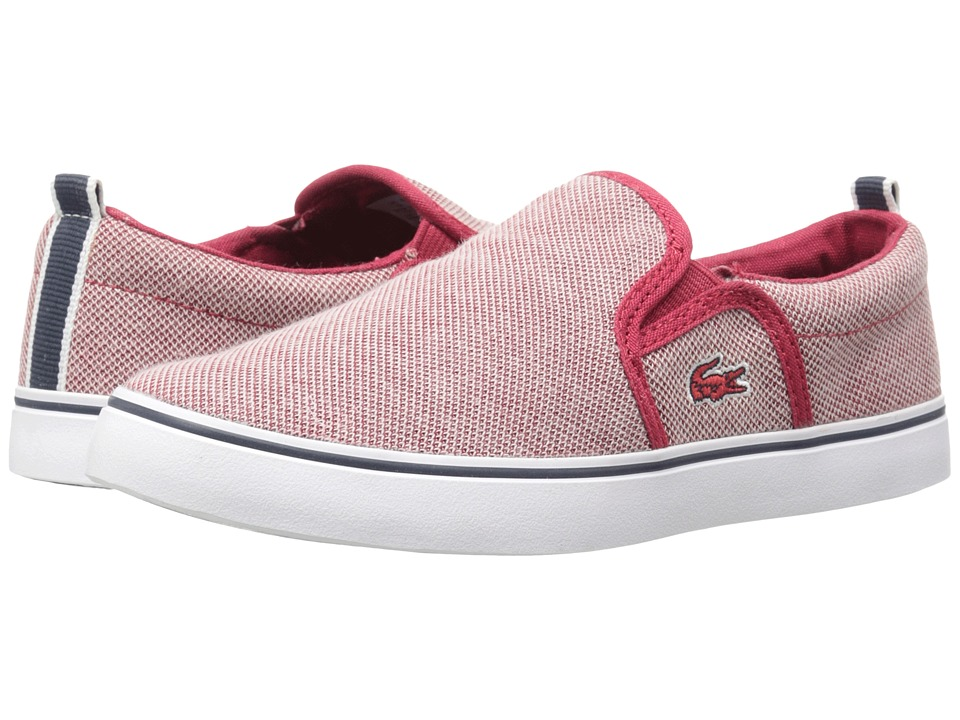 Lacoste Kids - Gazon 216 1 SP16 (Little Kid) (Red) Kid's Shoes