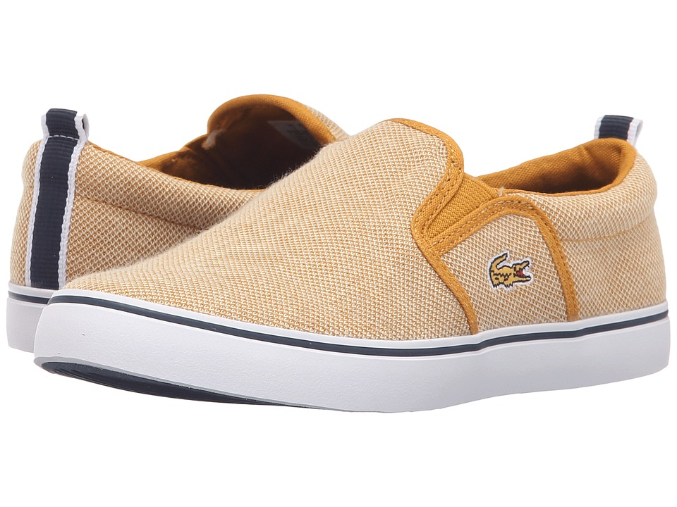 Lacoste Kids - Gazon 216 1 SP16 (Little Kid) (Yellow) Kid's Shoes
