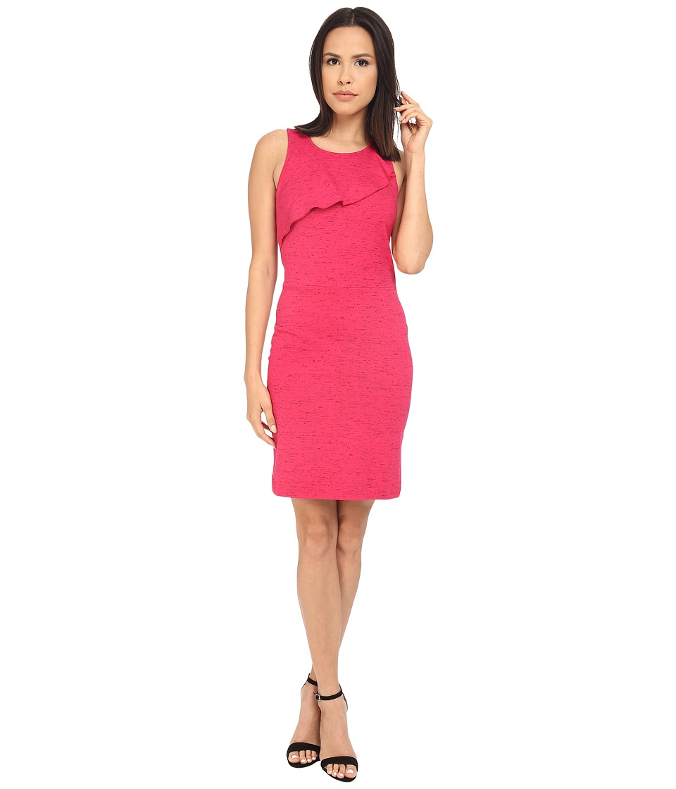 kensie Streaky Slub Ponte Dress KS2K7838 (Dragon Fruit Combo) Women