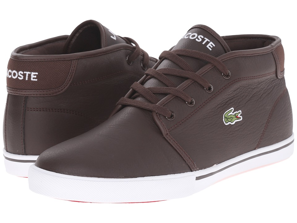 Lacoste - AMPTHILL LCR3 (Dark Brown/Dark Brown) Men's Shoes